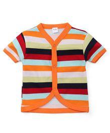 Playbeez Stripe Print Vest - Multicolour