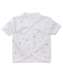 Playbeez Star Print Vest - Light Blue