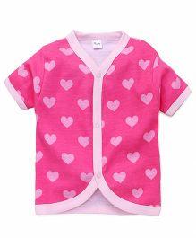 Playbeez Heart Print Vest - Pink