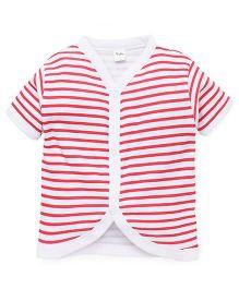 Playbeez Thin Stripe Vest - Red & White