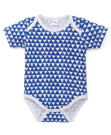 Playbeez Triangle Bodysuit - Navy Blue & White