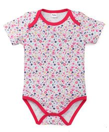 Playbeez Little Flowers Print Bodysuit - White