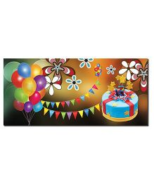 Ultra Birthday Envelopes With Special 3D Effects Pack of 5 - Multicolor