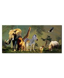Ultra Jungle Animals Design Envelopes With Special 3D Effects Pack of 5 - Multicolor