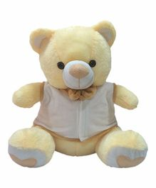 Ultra Bow & Jacket Teddy  Bear Soft Toy Cream - 38 cm