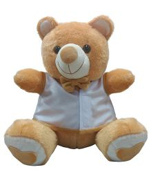 Ultra Bow & Jacket Teddy Bear Soft Toy Brown - 38 cm