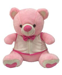Ultra Bow & Jacket Teddy Bear Soft Toy Pink - 38 cm