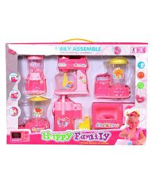 Emob Happy Kitchen Set Appliances - Pink