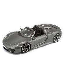 Bburago Die Cast Porsche 918  Spyder Toy Car - Metallic Grey