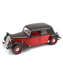 Bburago Die Cast Citroen 15 CV TA 1938 Toy Car - Red & Black