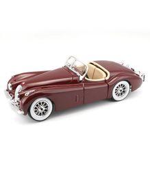 Bburago Jaguar Die Cast Toy Car XK 120 Roadster 1951 - Brown