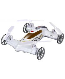Saffire 2-in-1 4 CH Remote Control Flying Car Toy Drone - White