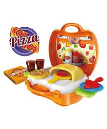 Saffire Pizza Suitcase Set - Multi Color