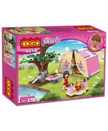 Saffire Girls Picnic Play Campers Building Blocks Multi Color - 179 Pieces