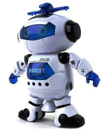 Saffire Webby Dancing Robot with 3D Lights and Music - White Blue