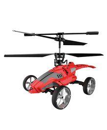 Saffire Mars Strike Transformer Remote Control Helicopter Cum Car - Red