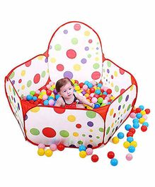 Webby Kids Play Zone Tent & 50 Balls - Multi Color