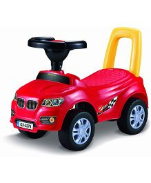 Saffire BMW Star Manual Push Ride On Car - Red