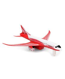 ToyFactory Metal Pull Back Airplane Toy - Red White