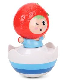 ToyFactory Strawberry Roly Poly Toy - Red