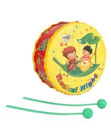 Mansaji Drum Toy - Yellow Red