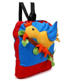 Tickles Beautiful Bird Soft Toy Bag Red Blue - 13 inch