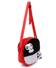Tickles Cute Little Panda Sling Bag Red And Black - 10 inch