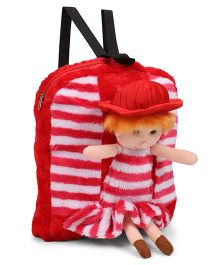 Tickles Beautiful Doll School Soft Toy Bag Red - 14 inch