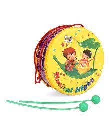 Mansaji Drum Toy - Yellow Purple