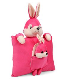 Tickle Mother Rabbit Cushion - Pink