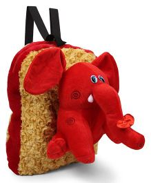 Tickles Elephant Soft Toy Bag Red - 13 inch