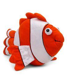 Tickles Fish Soft Toy Orange White - 39 cm