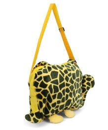Tickles Tortoise Shape Sling Bag Yellow Black - 10 inch