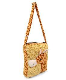 Tickles Giraffe School Sling Bag Brown - 10 inch