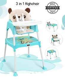 Babyhug 3 in 1 Play And Grow High Chair - Blue
