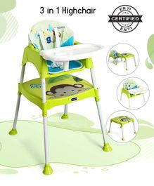 Babyhug 3 in 1 Play And Grow High Chair - Green