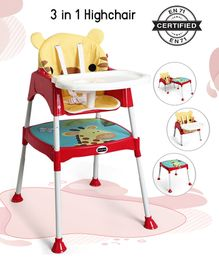Babyhug 3 in 1 Play And Grow High Chair - Red