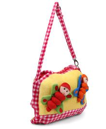 Tickles Beautiful Butterfly Sling Bag Red Yellow - 10 inch