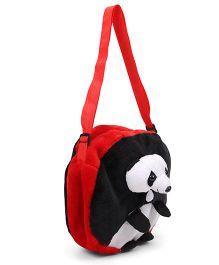 Tickles Panda Sling Bag Red Black - 9 inch