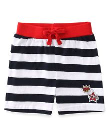 Babyhug Shorts With Drawstring And Stripe Design - Navy
