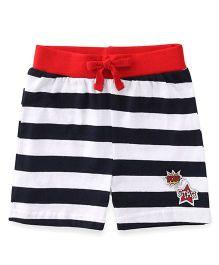 Babyhug Shorts With Drawstring And Stripe Design - Navy
