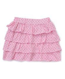 Babyhug Layered Skirt Polka Dot Print - Pink