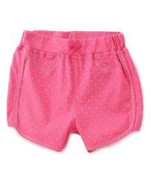 Babyhug Allover Dotted Shorts - Pink