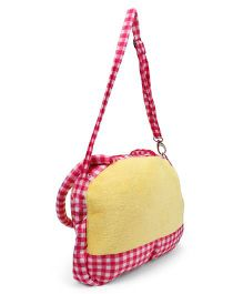 Tickle Soft Sling Bag Pink Yellow - 9 inch