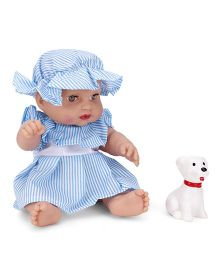 Speedage Mona Baby Doll With Puppy Sky Blue - 20 cm