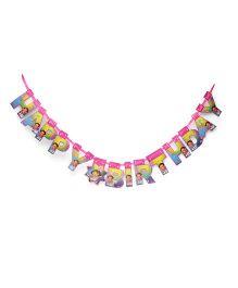 Dora Happy Birthday Banner - Pink