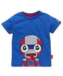 Spark  Half Sleeves T-Shirt Printed - Blue