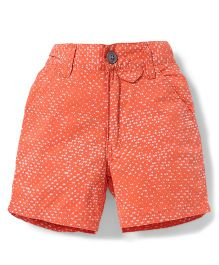 Spark Shorts Printed - Carrot Orange