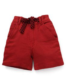 Spark Shorts With Drawstring - Dark Red