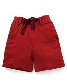 Spark Shorts With Drawstring - Dark Red